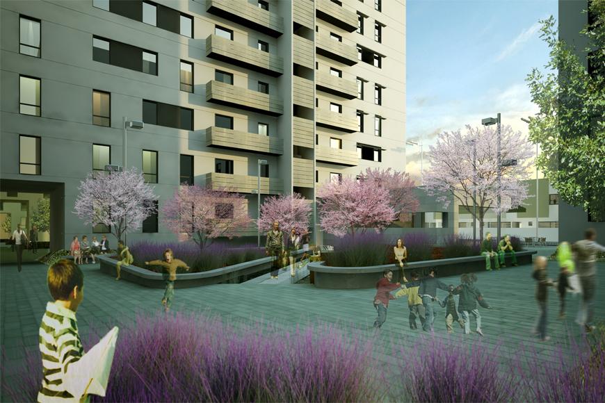 587 viviendas de protecci n oficial dos hermanas sevilla - Arquitectos de sevilla ...