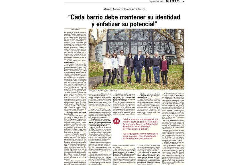 AGVAR noticia periodico Bilbao