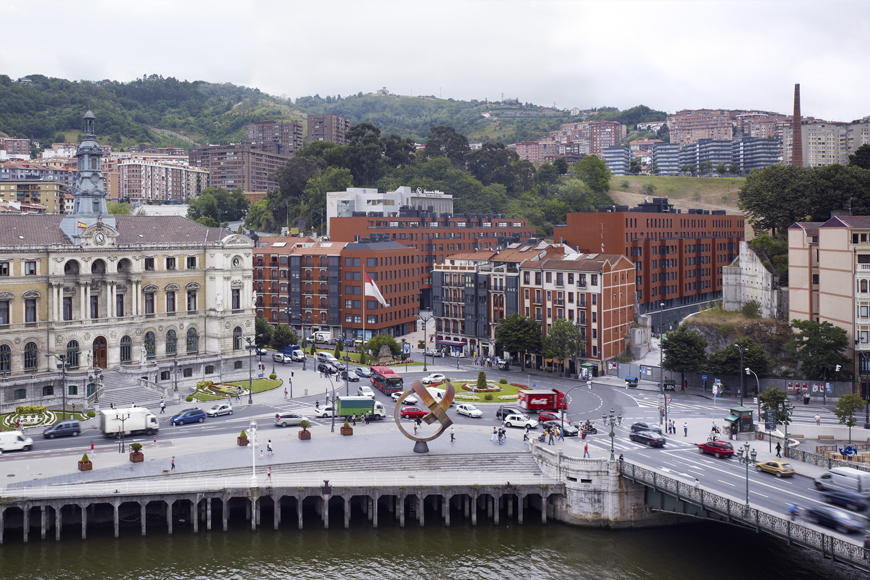211 dwellings plaza del gas bilbao agvar arquitectos - Plaza del gas bilbao ...