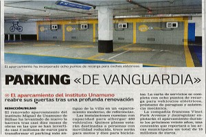 parking unamuno prensa vanguardia