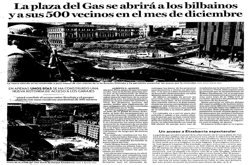 Press plaza del gas gas square agvar arquitectos - Plaza del gas bilbao ...