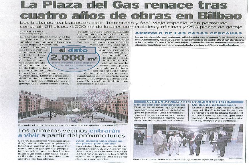 Prensa plaza del gas agvar arquitectos - Plaza del gas bilbao ...